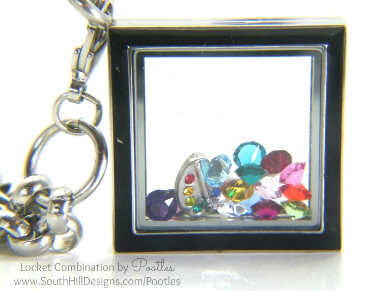 South Hill & Stampin' Up! Sunday Rainbows Locket Standing