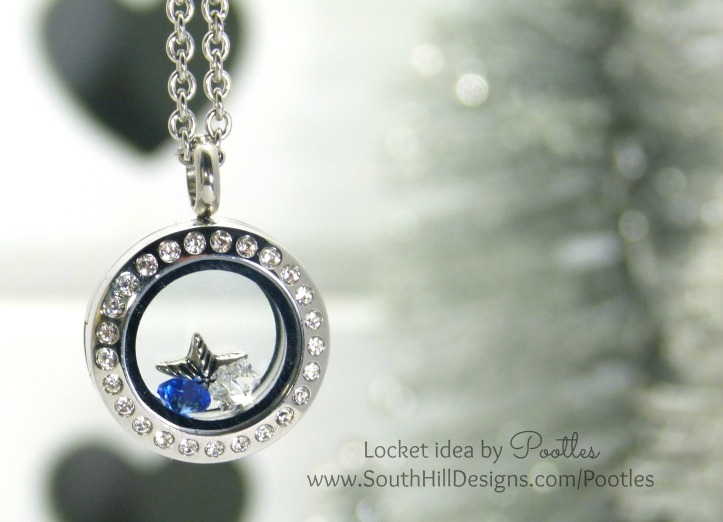 South Hill Designs & Stampin' Up! Sunday Stars and Snowflakes Showcase Locket