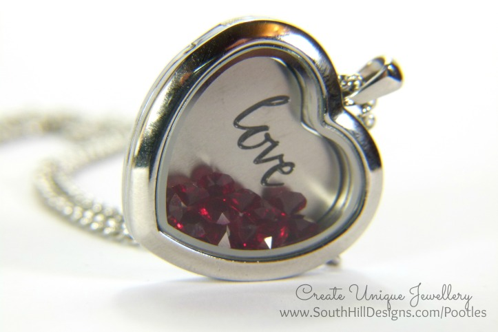 South Hill Designs - a Dozen Red.... Heart Locket and Coin