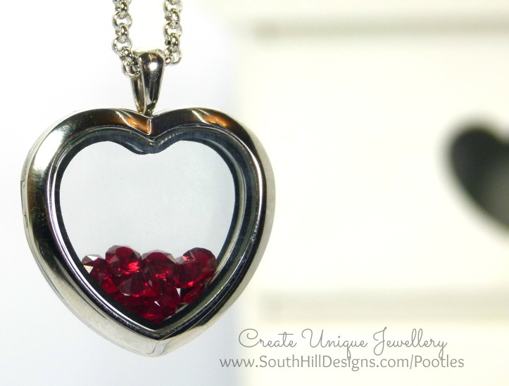 South Hill Designs - a Dozen Red.... Heart Shaped Locket
