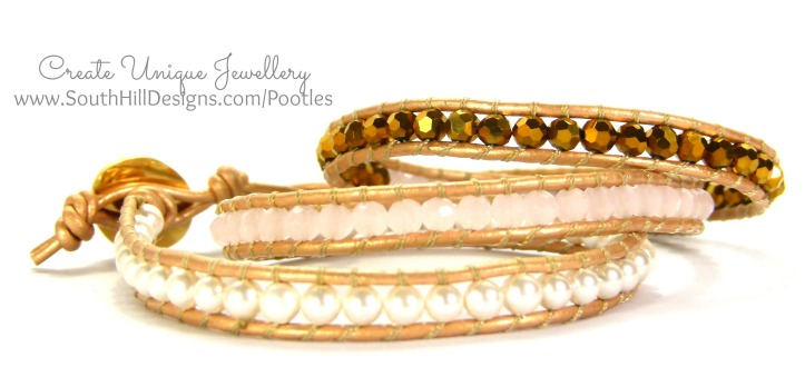 South Hill Designs Coral, Pearl Crystal Wrap