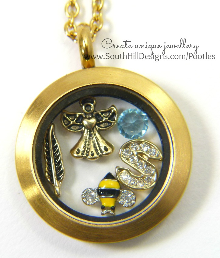 South Hill Designs - Memory Lockets with Bees and Angels