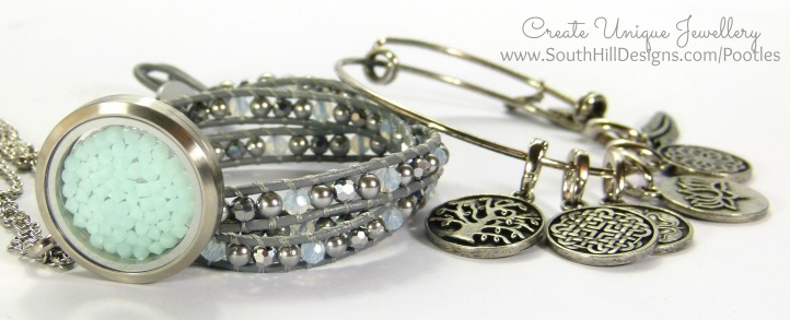 South Hill Designs - New Mint Wrap, Vintage Bangle, Embellishment