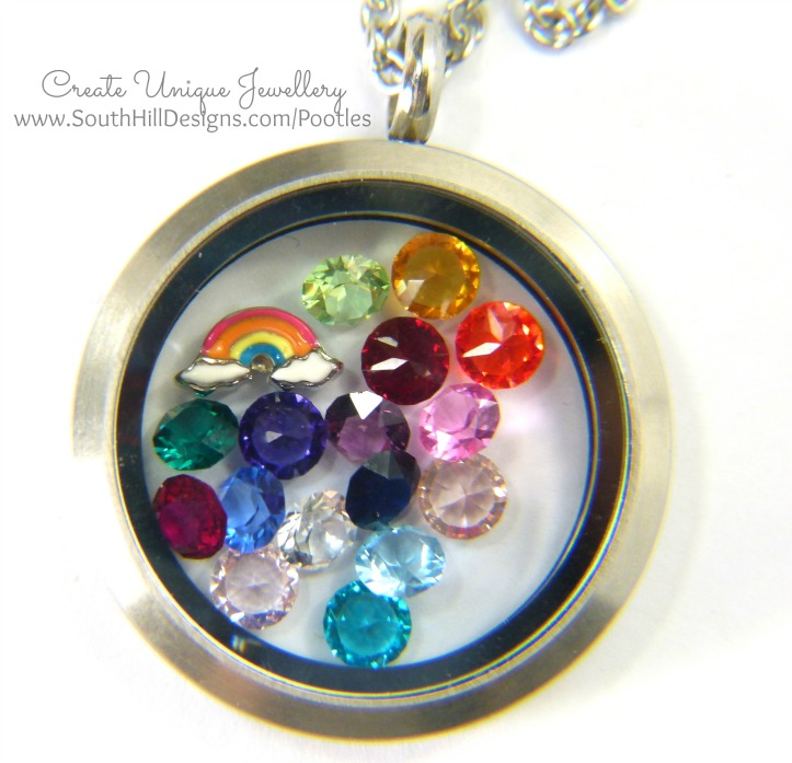 South Hill Designs - Bright Beautiful Rainbows Detail
