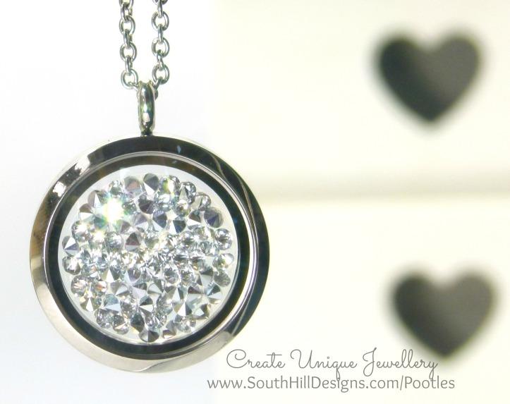 South Hill Designs - Silver Sparkle Hematite Embellishment