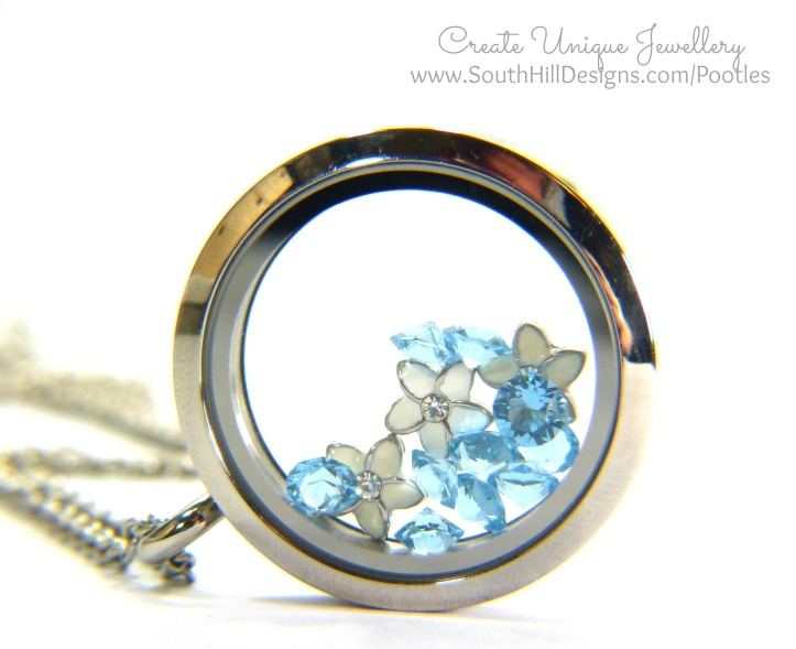 South Hill Designs & Stampin' Up! Sunday Mother's Day Locket Tutorial With March Birthstones Side Shot