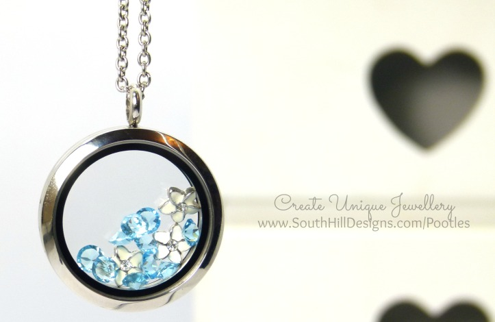 South Hill Designs & Stampin' Up! Sunday Mother's Day Locket Tutorial With March Birthstones