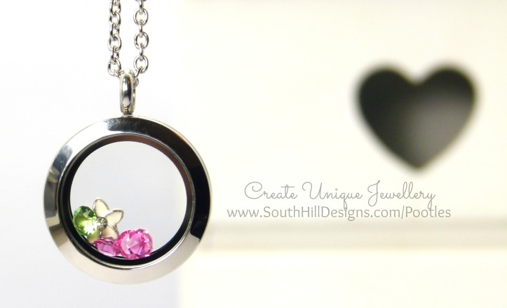 South Hill Designs & Stampin' Up! Sunday Painted Petals Locket Hanging