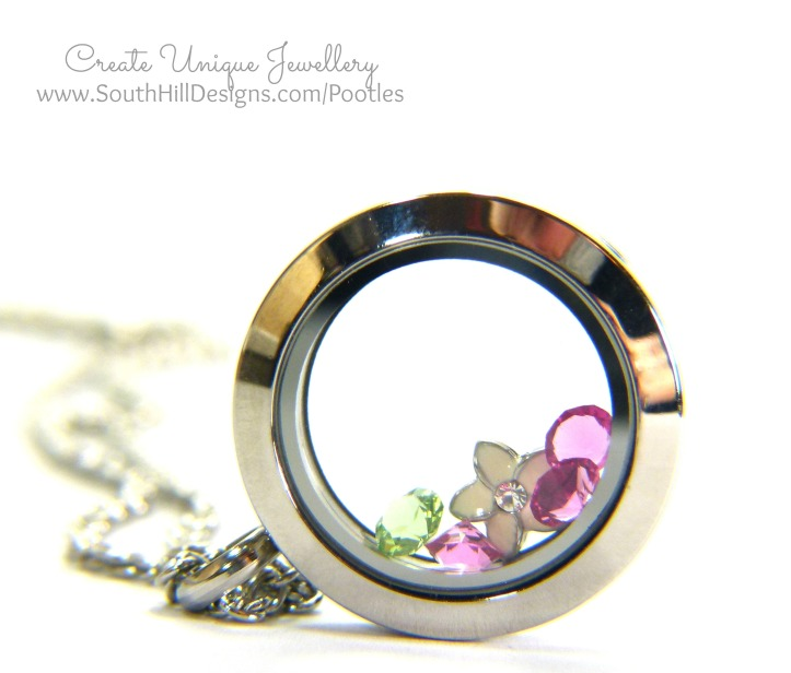 South Hill Designs & Stampin' Up! Sunday Painted Petals Locket