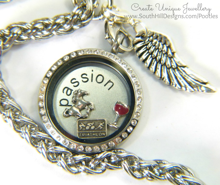 South Hill Designs - a Locket of Passions Brighton Chain and Feather Droplet