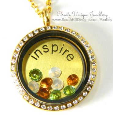 South Hill Designs - Gold Inspire close up