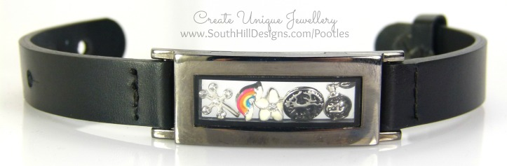 South Hill Designs - Graphite Locket Bracelet Showcase Close Up