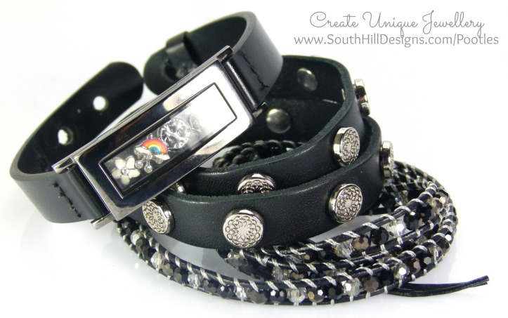 South Hill Designs - Graphite Locket Bracelet Showcase