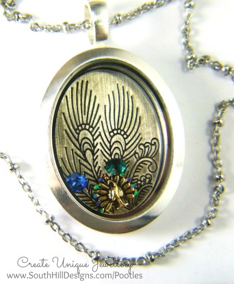 South Hill Designs - Peacock Pretties Close Up