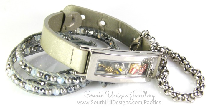 South Hill Designs - Silver Locket Bracelet Showcase 3