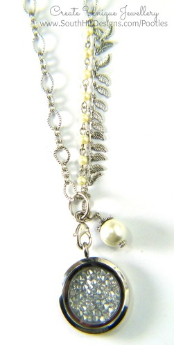 South Hill Designs - Silver Sparkle Hematite Embellishment Tamara Chain