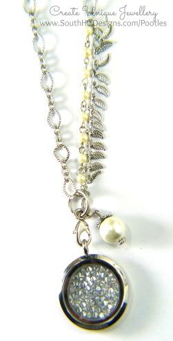 South Hill Designs - Silver Sparkle Hematite Embellishment Tamara Chain