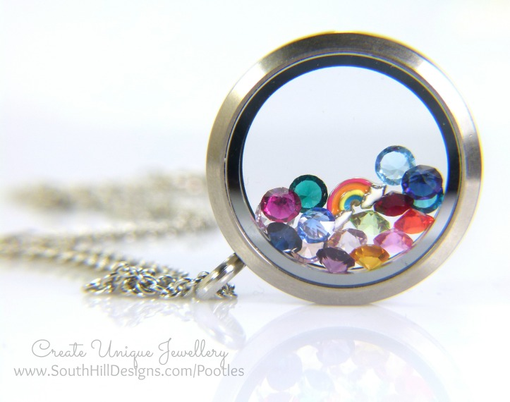 South Hill Designs & Stampin Up Sunday Rainbows Locket