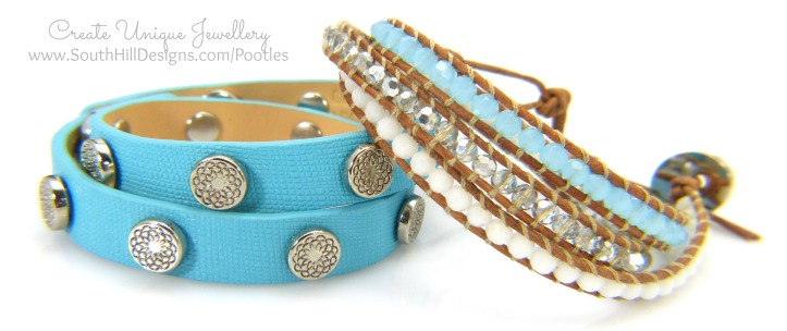 South Hill Designs Turquoise Wrap and Pool Blue Crystal Wrap