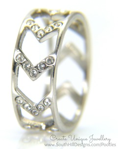South Hill Designs - Chevron Ring close up