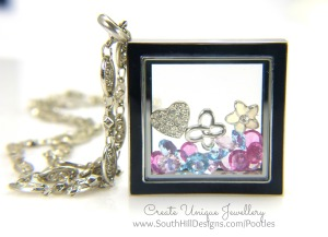 South Hill & Stampin' Up! Sunday Softened Colours Diamond Locket