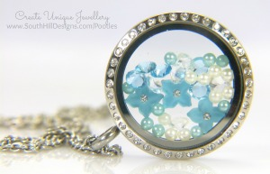 South Hill Designs - Blue Crystal Flowers