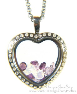 South Hill Designs - Crystal Heart and Lilacs
