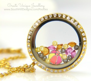 South Hill Designs & Stampin' Up! Sunday Crazy Summer Colours Locket