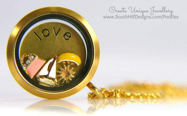 South Hill Designs - Gold Love and a spot of Pink!