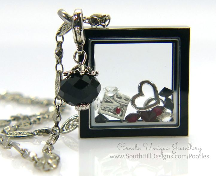South Hill Designs - Black and Red Diamond Love Close Up