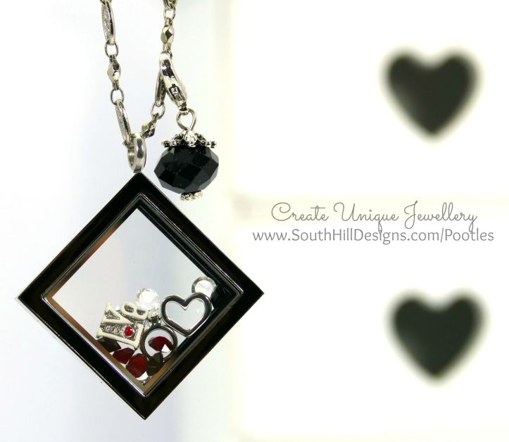 South Hill Designs - Black and Red Diamond Love