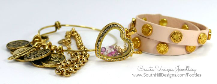 South Hill Designs - Gold Hearts and Pink Ice Cream Plus Wrap