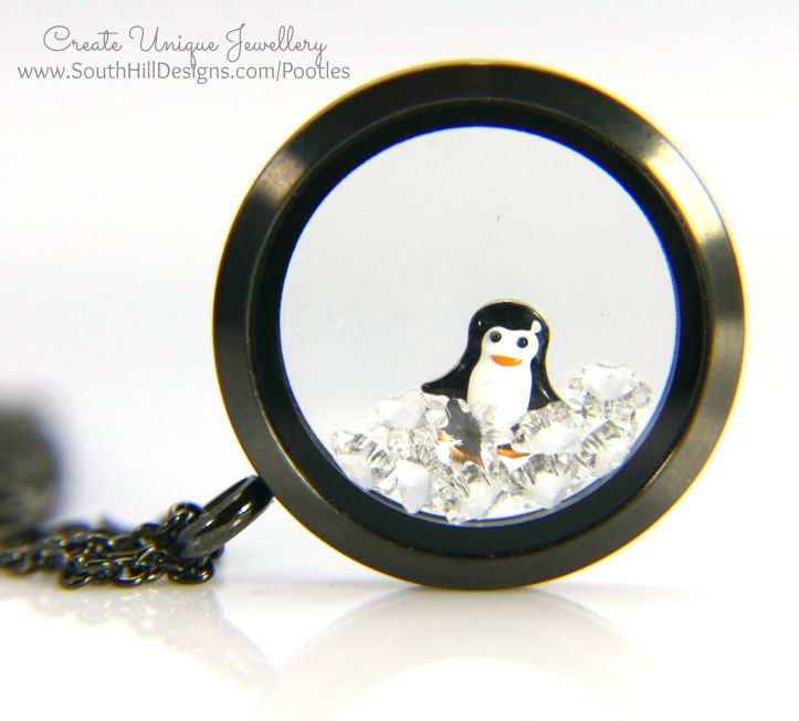 South Hill Designs - Graphite Locket and Penquin