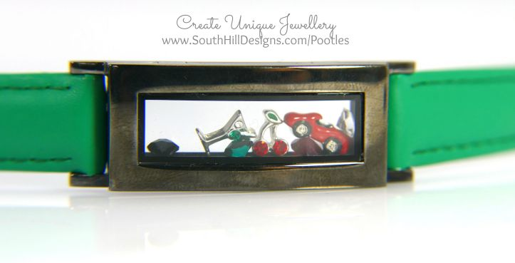 South Hill Designs - Green Locket Bracelet