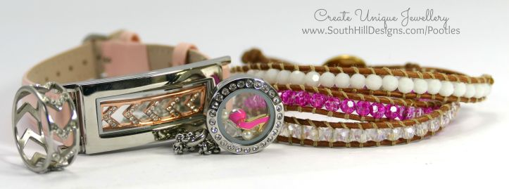 South Hill Designs - Mini Locket and Hot Pinks! Plus Locket Bracelet
