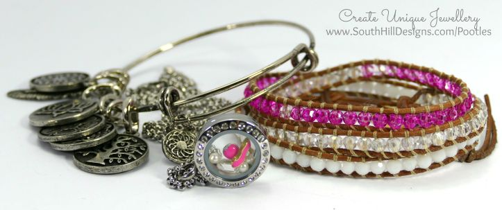 South Hill Designs - Mini Locket and Hot Pinks! Plus Silver Bangle and Wrap