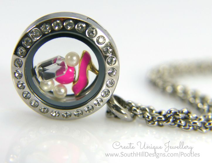 South Hill Designs - Mini Locket and Hot Pinks!