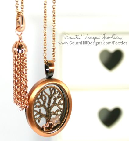 South Hill Designs - Rose Gold Tree of Life with tassel