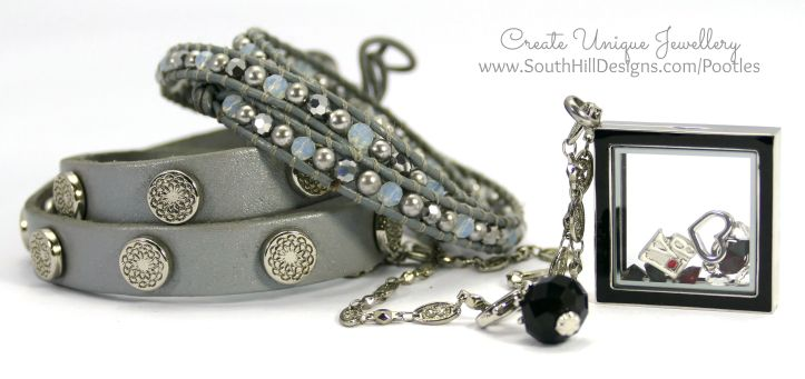 South Hill Designs - Black and Red Diamond Love With Wrist Accessories