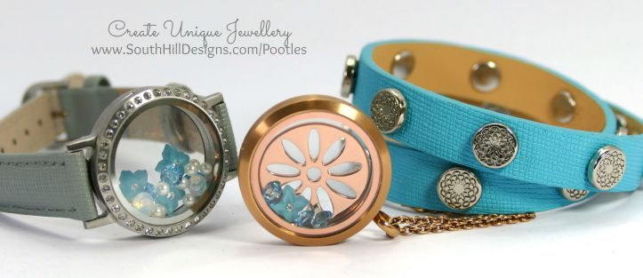South Hill Designs - Blue, Round, Pretty! Wrist and Rose Gold Collection