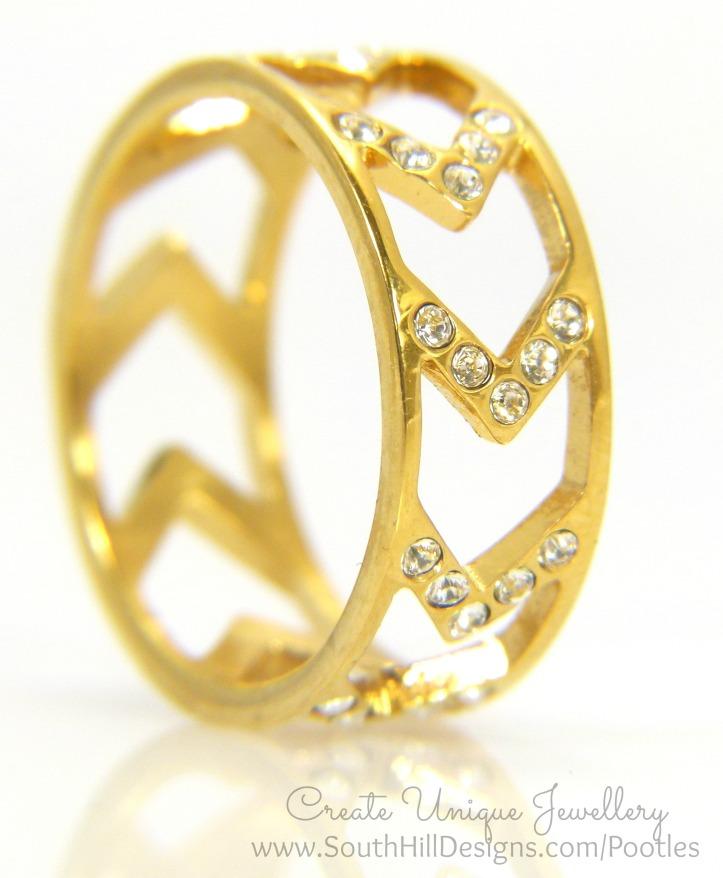 South Hill Designs Gold Chevron Ring