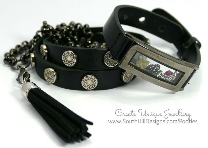 South Hill Designs - Black Locket Bracelet and more... Collection
