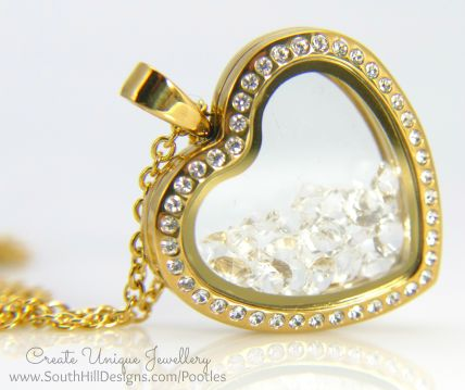 South Hill Designs - Crystal Heart and a Lot of Crystals!