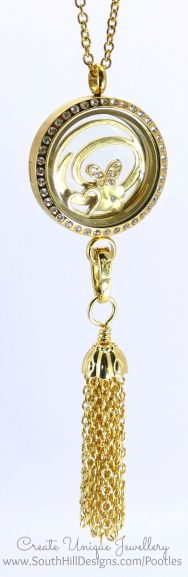South Hill Designs - Gold Linkable Locket Hanging