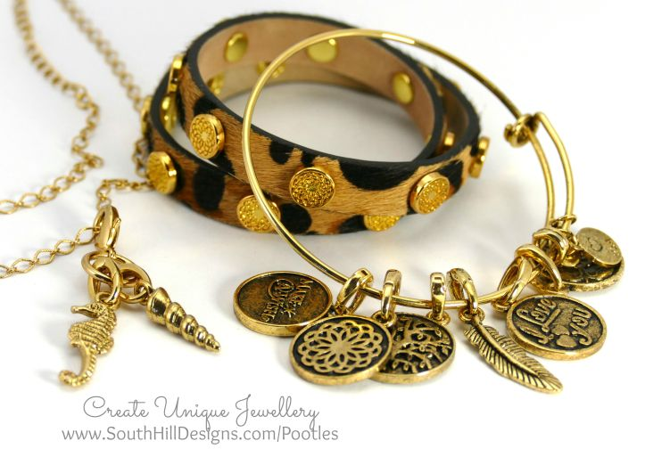 South Hill Designs - Leopard Print and Gold