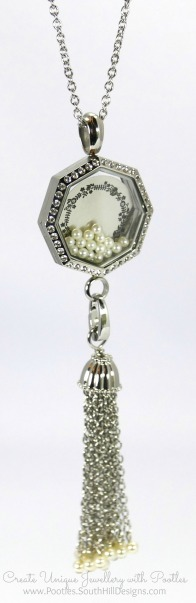South Hill Designs - Octagonal Linkable Locket and Pearl Tassel
