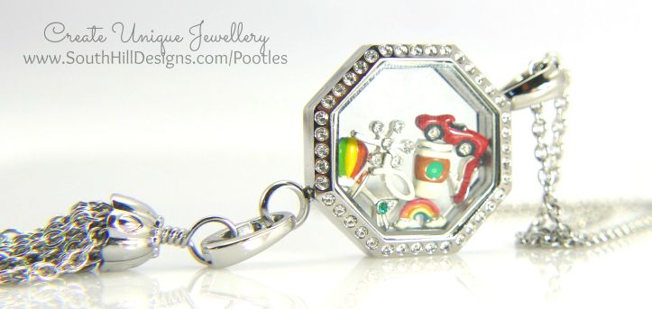 South Hill Designs - Octagonal Linkable Locket. Love!