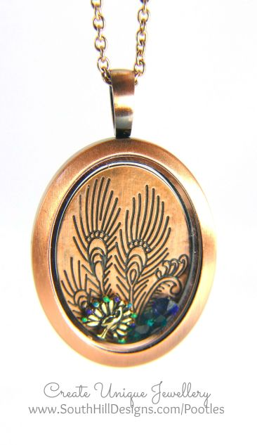 South Hill Designs - Peacock Blues and Bracelet Greens Locket