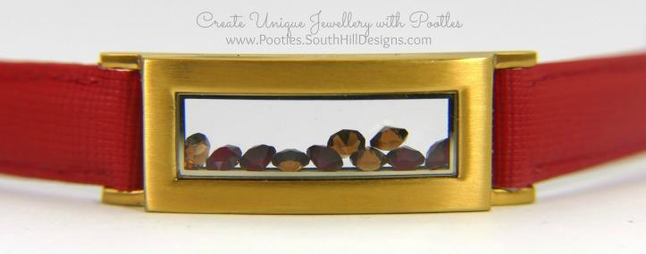South Hill Designs Red Locket Bracelet