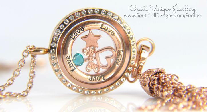 South Hill Designs - Rose Gold Linkable Locket
